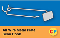 All Wire Metal Plate Scan Hooks