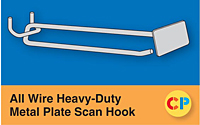 All Wire Heavy-Duty Metal Plate Scan Hooks