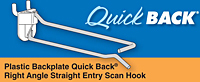 Plastic Backplate Quick Back Right Angle Straight Entry Scan Hooks