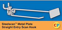 Steelscan Metal Plate Straight Entry Scan Hooks