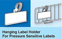 Hanging Label Holders for Adhesive Labels