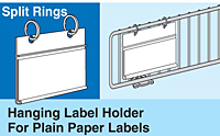 Hanging Label Holders for Plain Paper Labels