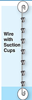 Wire Merchandiser Strip with Suction Cups