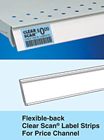 Flexible-Back Clear Scan Label Strips