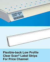 Flexible-Back Low Profile Clear Scan Label Strips