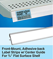 Front-Mount, Adhesive-back Label Strips with Center Guide