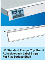 HE Standard Flange, Top Mount Adhesive-back Label Strips