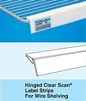 Hinged Clear Scan Label Strips