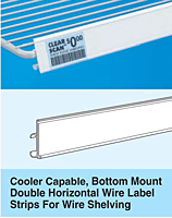 Cooler Capable, Bottom Mount Double Horizontal Wire Clear Scan Label Strips