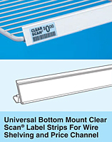 Universal Bottom Mount Clear Scan Label Strips