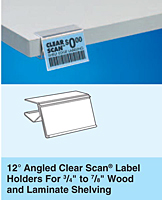 12º Angled Clear Scan Label Holders