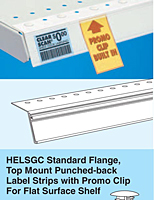 HELSGC Standard Flange, Top Mount Punched-back with Promo Clip