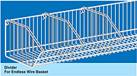 Divider For Endless Wire Basket
