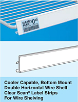 cooler shelving - bottom mount