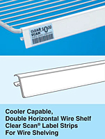cooler shelving - double horizontal