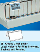 25deg angled clear scan holder
