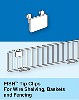 fish tip clips for wire shelving