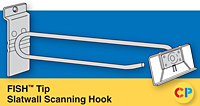 Slatwall Fish Tip Scan Hook Fits Slatwall