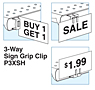 SI 3-Way Sign Grip Clip