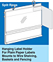 Hanging Label Holder - For Right Angle Promotional Flags