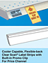 SI Cooler Capable, Flexible-back Clear Scan Label Strips with Built-in Promo Clip