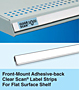 Front-Mount Adhesive-back Label Clear Scan Strips