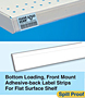 Bottom Loading, Front Mount Adhesive-back Label Strips