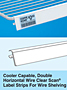 Cooler Capable, Double Horizontal Wire Clear Scan Label Strips