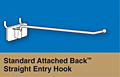 Standard attached back straight entry hook corr