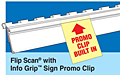 Flip Scan Label Strips with Info Grip Promo Clips