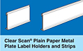clear scan plain paper holders