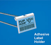 flip scan adhesive label holder