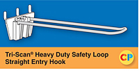 Tri-Scan Heavy Duty Safety Loop Straight Entry Hooks