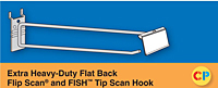 Extra Heavy-Duty Flat Back Flip Scan Hooks