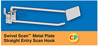 Swivel Scan Metal Plate Straight Entry Scan Hooks