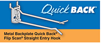 Metal Backplate Quick Back Flip Scan Straight Entry Hooks