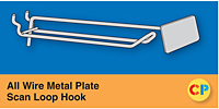 All Wire Metal Plate Scan Loop Hooks