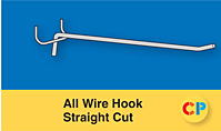 All Wire Single Prong Hooks Straight Cut