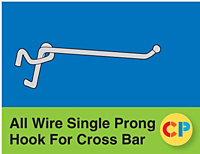 All Wire Single Prong Hooks