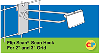 "Flip Scan Scan Hooks - Fits 2"" and 3"" Grid"