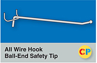 All Wire Hook Ball-End Safety Tip