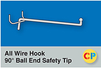 All Wire Hook 90° Ball End Safety Tip