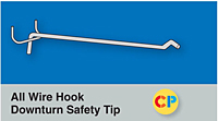 All Wire Hook Downturn Safety Tip