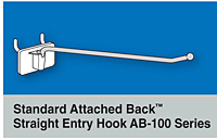 Standard Attached Back Straight Entry Hooks