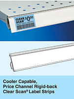 SI Cooler Capable Rigid-back Clear Scan Label Strips