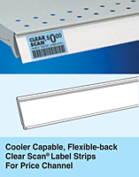 SI Cooler Capable, Flexible-back Clear Scan Label Strips