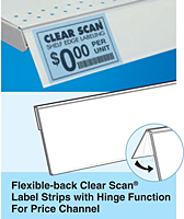 Flexible-Back Clear Scan Label Strips with Hinge Function