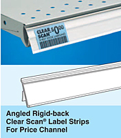 Angled Rigid-back Clear Scan Label Strips