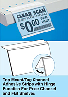 Top Mount/Tag Channel Adhesive with Hinge Function