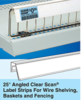 25º Angled Clear Scan Label Strips